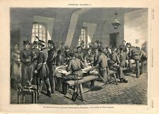 Exposition universelle Soldats Nations Cantine Ecole Militaire ILLUSTRATION 1878