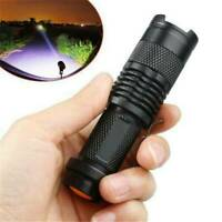 7W 1200LM 1Mode Mini Zoom In/Out LED Q5 14500/AA Flashlight Torch Camping Light~