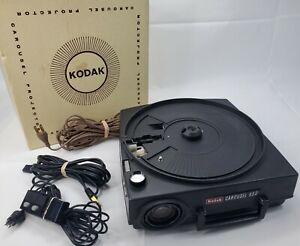 Kodak Carousel 650 Slide Projector + Remote & Power Cord Tested Working Vintage