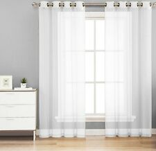 1PC GROMMET SOLID VOILE SHEER PANEL WINDOW CURTAIN TREATMENT DRAPE NEW DECOR