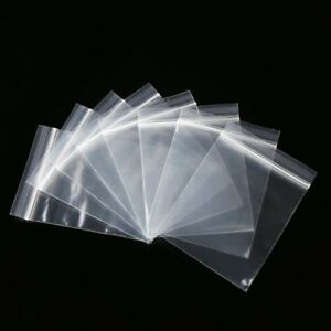 "100x GRIP SEAL BAGS Plastic Large Clear Grip Zip Lock Self 8"" x 11"" GL12"