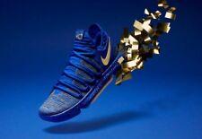 f226b972b965 2018 Nike Zoom KD 10 Celebration Finals MVP Championship Blue Gold Mens Kd10  8.5