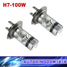 Pair H7 100W 8000K Ice Blue 2323 Auto Foglight DRL LED Fog Lamps Driving Lights