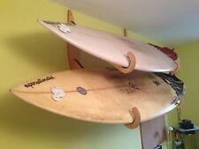 Surfboard wall rack - Double, wooden.
