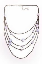 w Violet Circular Plates (T309) Fantastic Vintage Style Multi-Layered Necklace