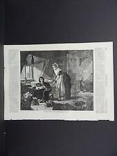 HARPER'S WEEKLY Single Page S2#93 July 1873 Chatterton Discovered by his Mother