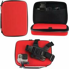 Navitech Red Action Camera Hard Case For The Isaw A3 Extreme  NEW