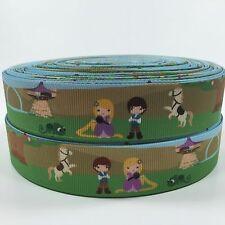 "BTY 1"" Disney Rapunzel Prince Kids Grosgrain Ribbon Hair Bows Lisa"
