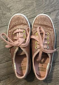 Kate Spade Keds Champion Glitter - TODDLER Girl Sz 10.5 Pink Rose Gold Sneakers