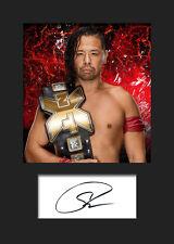 SHINSUKE NAKAMURA #1 (WWE) Signed (Reprint) Photo A5 Mounted Print - FREE DEL