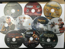 Lot 10 PS3 Games NO SCRATCHES,GTA 4, Resident Evil, Mafia 2, Bioshock, NCAA,NBA,