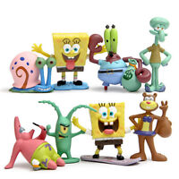 8Pcs Spongebob Squarepants Fish Tank Aquarium Ornament Decoration Figure Toys