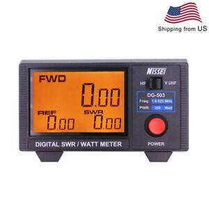NISSEI DG-503 1.6-525Mhz Digital SWR/WATT Meter RF power meter Short Wave Meter