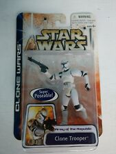 Star Wars Clone Trooper Army Of The Republic Super Poseable New
