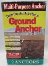 Heavy Duty 2 Anchors Multi-Purpose Ground Anchor Holding Strength Up To 2500 lbs