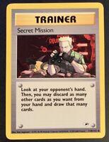 NM/M Secret Mission 118/132 Gym Heroes Unlimited Pokemon Card