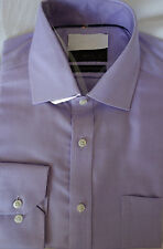 "Ex famous chainstore cotton shirt 15""  regular fit RRp £29.50 Non iron lilac"