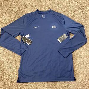 Nike Penn State Nittany Lions Mens Large Dri Fit Long Sleeve Shirt Navy Blue