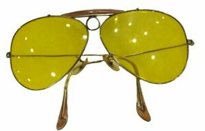 Vintage RAY BAN Bausch&Lomb Yellow Lens Shooter Sunglasses 1/30 10K Gold Overlay