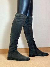 ! ! schöne lange Überknie Echtleder Stiefel Damen Männer Boots EU42 UK8 US11 ! !