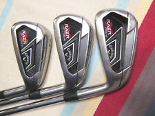 Callaway RAZR X TOUR Partial Iron Set Mid Irons 5, 6, 7 Steel Project X 6.5 +2UP