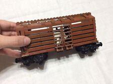Custom Lego Train Car brown box livestock used Lego MOC my own creation