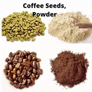Ceylon Roasted & Unroasted Coffee Beans & Powder 100% Pure Organic High Quality