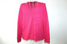 G.C.FONTANA pinkes Twin Set pink grober Strick XXL Langarm Top Jacke Set °4683