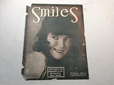 "Antique sheet music""Smiles"" Words by: J.Will Callahan & Music by:Lee S. Roberts"