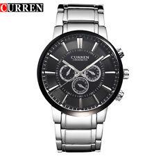 CURREN Men Fashion Luxury Big Dial Steel Quartz Business Waterproof Wrist Watch