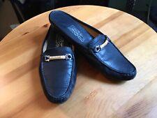 Salvatore Ferragamo Size 7  Flat Slip On Open Back Mules  Shoes Slides