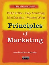 """""""VERY GOOD"""" Principles of Marketing: European Edition, Kotler, Philip, Armstrong"""