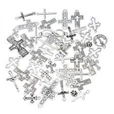 30PCS Wholesale SF  Mixed Silver Cross Shape Pendants  Charm Jewelry LOT new