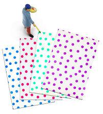"10"" x 13"" Pink|Teal|Purple|Blue Polka Dot -Flat Poly Self Seal Mailers (400 Pack"