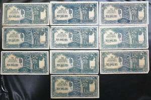 10 Malaya & Singapore Japanese occupation $10 ERROR prefix misalignment, JIM