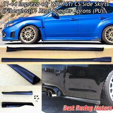 Bottom Line Style Side Skirts + Rear Aprons Fit 11-14 Subaru Impreza 4dr