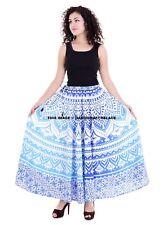 100% Cotton Indian Women Long Skirt Hippie Ombre Mandala Print Skirt Waist Skirt