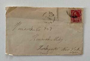 1917 WW1 1c Red ITC St Pie Quebec to Lockport NY