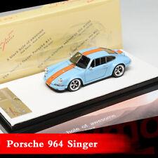 Timothy&Pierre 1:64 Scale Diecast Car Model Porsche 911 964 Singer Gulf Limited