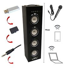 MOBILE BLUETOOTH SOUNDBOX 75cm, SCHWARZ,MIKROFONEING.,4LS,FM-AUX-USB-SD-MP3 BOX6