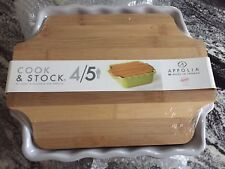 APPOLIA France Grey Cook & Stock Square Dish New with defects