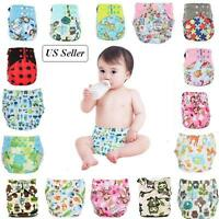 Soft Baby Washable Reusable Cloth Diaper Hook-Loop Pocket Nappy Cover Wrap USA