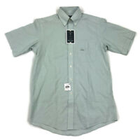 Club Room Mens Short Sleeve Button Shirt Stretch Sage Green Variety Sizes