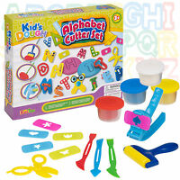 42 Pc Alphabet Cutter Play Kids Dough Set Toys Activity Craft Shapers Gift Xmas