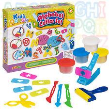 42 teilig Alphabet Schneider Knete Set Spielzeug für Kinder Aktivität Basteln
