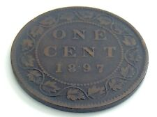 1897 C4 Canada One 1 Cent Large Penny Canadian Circulated Victoria Coin J735