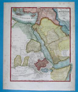 1849 ORIGINAL MAP MIDDLE EAST SAUDI ARABIA KUWAIT EMIRATES QATAR JORDAN ISRAEL