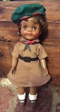 "Vintage 1965 ""Effanbee"" Collectible African American Doll in ""Brownie"" Uniform"