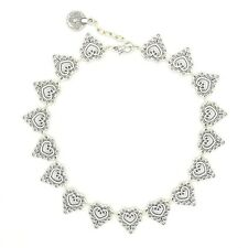 Tibetan lace carving silver coin link choker. Boho/hippy/gypsy/vintage/antique