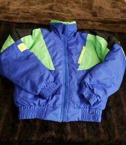 Obermeyer Mens Small Blue Green Down Ski Jacket